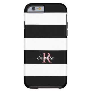 ELEGANTE IPHONE 6 STREPEN CASE_BLACK/WHITE TOUGH iPhone 6 HOESJE