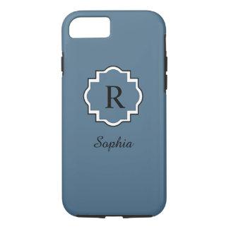 ELEGANTE iPhone 7 CASE_77 STOFFIGE BLUE/WHITE iPhone 7 Hoesje