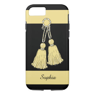 ELEGANTE iPhone 7 CASE_BUTTER TASSELS/STRIPES iPhone 7 Hoesje