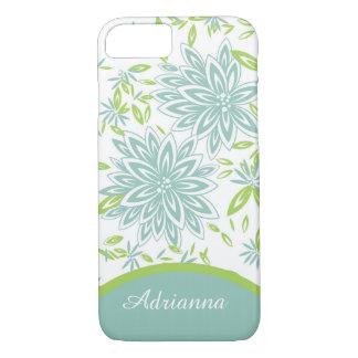 ELEGANTE iPhone 7 CASE_LOVELY SEAFOAM BLOEMEN iPhone 7 Hoesje