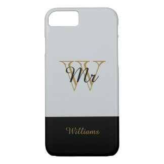 "ELEGANTE iPhone 7 CASE_ "" M."" SILVER/GOLD/BLACK iPhone 8/7 Hoesje"