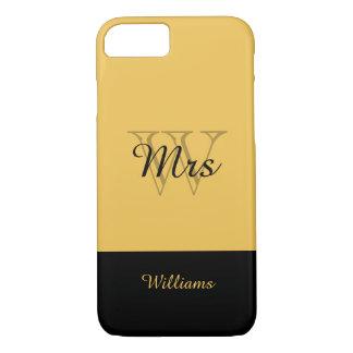 ELEGANTE iPhone 7 CASE_MRS. GOLD/BLACK iPhone 7 Hoesje