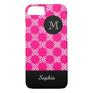 ELEGANTE iPhone 7 CASE_PINK/WHITE/FLORAL iPhone 7 Hoesje