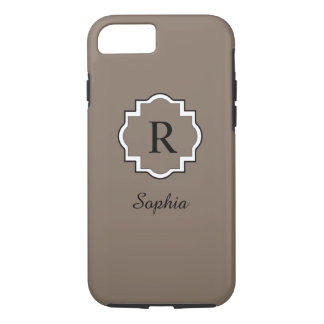 ELEGANTE iPhone 7 CASE_SOFT BROWN/WHITE iPhone 7 Hoesje