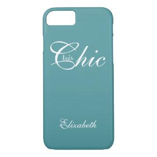"ELEGANTE iPhone 7 CASE_ "" tresChic"" 413 AQUA/WHITE iPhone 7 Hoesje"