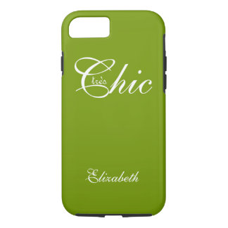 "ELEGANTE iPhone 7 CASE_ "" tresChic"" 66 GREEN/WHITE iPhone 7 Hoesje"