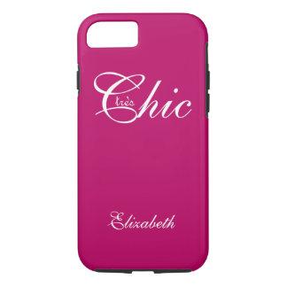 "ELEGANTE iPhone 7 CASE_ "" tresChic"" BERRY/WHITE iPhone 7 Hoesje"