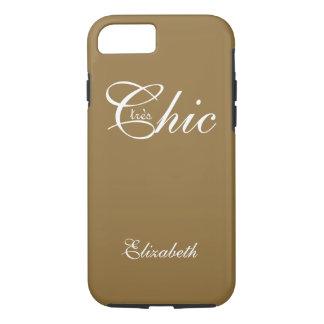 "ELEGANTE iPhone 7 CASE_ "" tresChic"" CAMEL/WHITE iPhone 7 Hoesje"