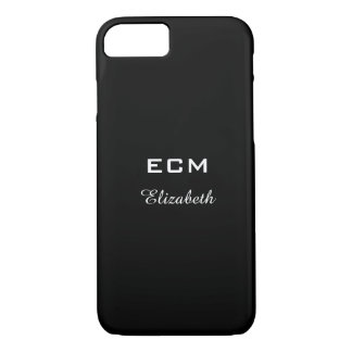 ELEGANTE iPhone 7 CASE_ WITTE INITIALS/NAME OP iPhone 7 Hoesje