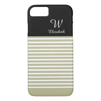 ELEGANTE iPhone 7 STREPEN CASE_193 NATURAL/BLACK iPhone 7 Hoesje
