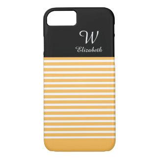 ELEGANTE iPhone 7 STREPEN CASE_56 SUNFLOWER/WHITE iPhone 7 Hoesje
