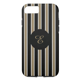 ELEGANTE iPhone 7 STREPEN CASE_GOLD/BLACK/WHITE iPhone 7 Hoesje