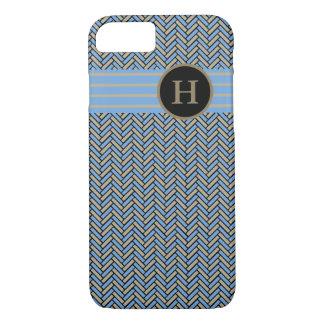 ELEGANTE iPhone 7 VISGRAAT CASE_CAMEL/BLUE/BLACK iPhone 7 Hoesje
