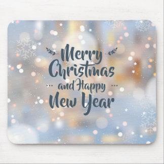Elegante Kerstmis & Gelukkig Nieuwjaar | Mousepad Muismat