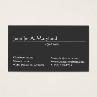 Elegante, klassieke grijze visitekaartjes