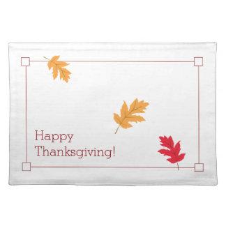 Elegante, Kleurrijke, en Feestelijke Thanksgiving Placemat