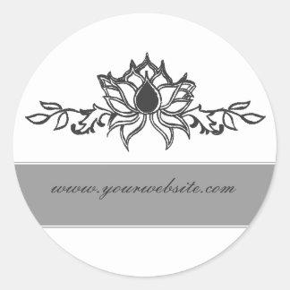 Elegante lotusbloemBloem Ronde Sticker