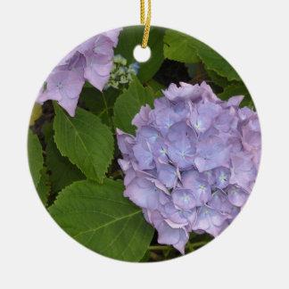 Elegante Mauve Hydrangea hortensia's Rond Keramisch Ornament