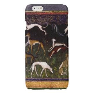 Elegante Middeleeuwse Windhonden in het Diepe Bos iPhone 6 Hoesje Glanzend
