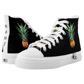 elegante minimalistische ananas | zwarte high top schoenen
