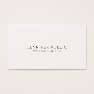 Elegante Moderne Professionele Vlakte Minimalistic Visitekaartjes