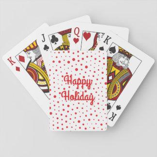 Elegante Moderne Stippen - het Rood past BG aan Speelkaarten