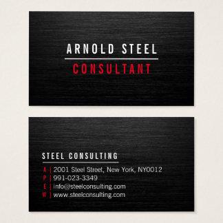 Elegante moderne zwarte metaal professionele visitekaartjes