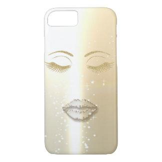 Elegante Modieus, Faux Gouden Glittery Zwepen, iPhone 8/7 Hoesje