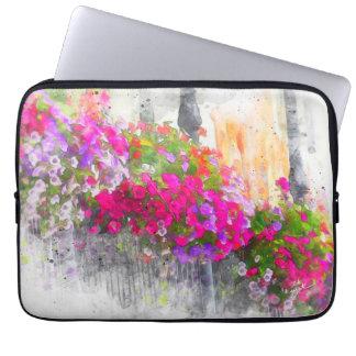 Elegante Mooie Bloemen Elegante Modern van de Computer Sleeve
