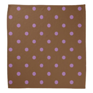 elegante paarse bruine stippen bandana