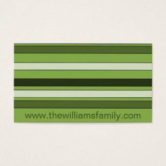 Elegante Patroon van de Strepen van het groen het Visitekaartjes