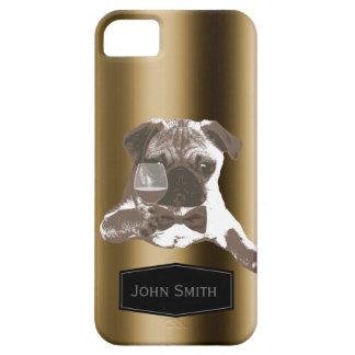 Elegante Pug & van de Wijn iPhone 5 van de Naam va Barely There iPhone 5 Hoesje