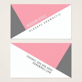 elegante roze geometrische moderne stijl visitekaartjes