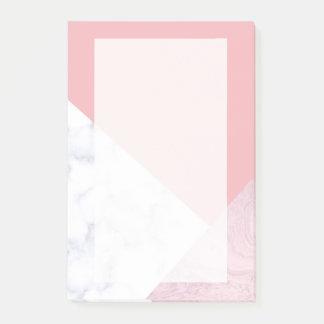 elegante roze marmeren geometrisch van de kuiken post-it® notes