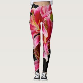 Elegante Roze Oosterse Lelies Leggings