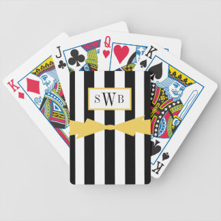 ELEGANTE SPEELBOOG CARDS_BLACK/WHITE PAK KAARTEN