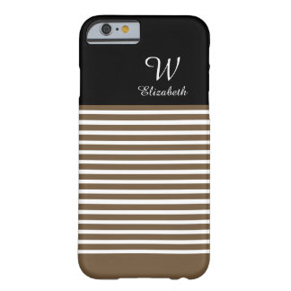 ELEGANTE STREPEN IPHONE6 CASE_39 BROWN/WHITE BARELY THERE iPhone 6 HOESJE