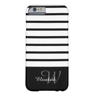 ELEGANTE STREPEN IPHONE6 CASE_BLACK/WHITE BARELY THERE iPhone 6 HOESJE