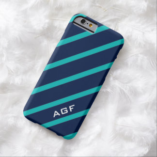 ELEGANTE STREPEN IPHONE6 CASE_TURQUOISE/NAVY BARELY THERE iPhone 6 HOESJE