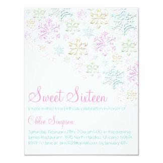 Elegante van de Sneeuwvlok Sweet16- Uitnodiging