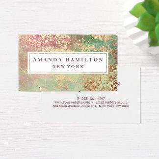 Elegante Verguld elegant bloost Groen Roze Goud Visitekaartjes