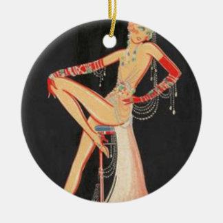 Elegante Vin Rond Keramisch Ornament