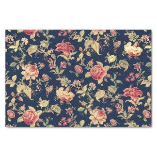 Elegante Vintage Bloemen nam toe Tissuepapier
