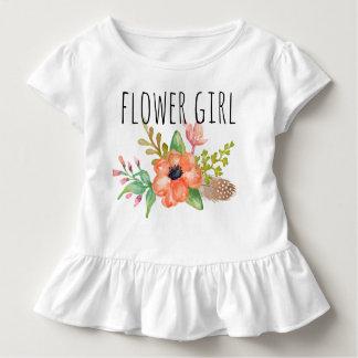 Elegante Waterverf Bloemen/Bloem meisje-3 Kinder Shirts