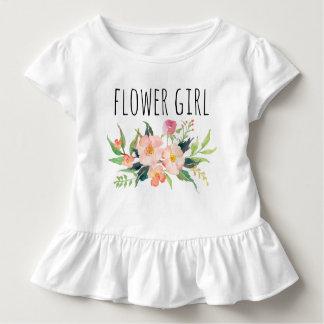 Elegante Waterverf Bloemen/Bloem meisje-7 Kinder Shirts