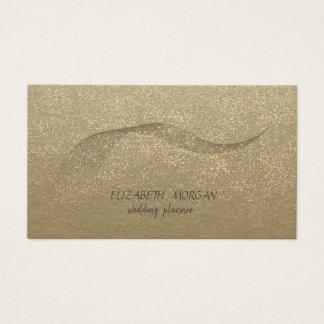 Elegante Wijnoogst, Kraftpapier, Gouden Confettien Visitekaartjes