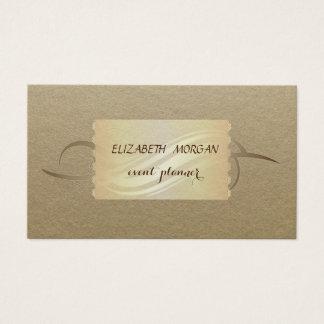 Elegante Wijnoogst, Kraftpapier Visitekaartjes