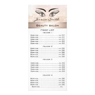 Elegante wimpers & het menukaart van reclamekaart