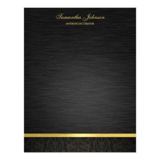 Elegante Zwart en Gouden Flyer 21,6 X 27,9 Cm