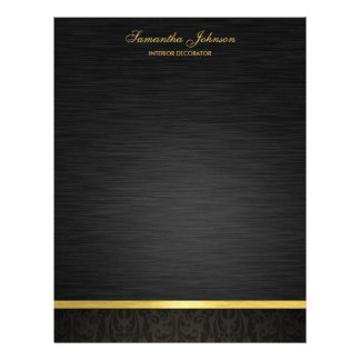 Elegante Zwart en Gouden Fullcolor Folder